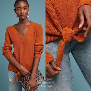 NWT Anthropologie Moth Freeport Ribbed Sweater XL
